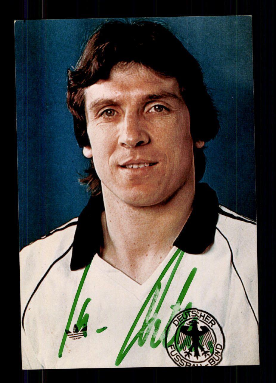 Klaus Fischer DFB Vize Weltmeister 1982 Foto Original Signiert A