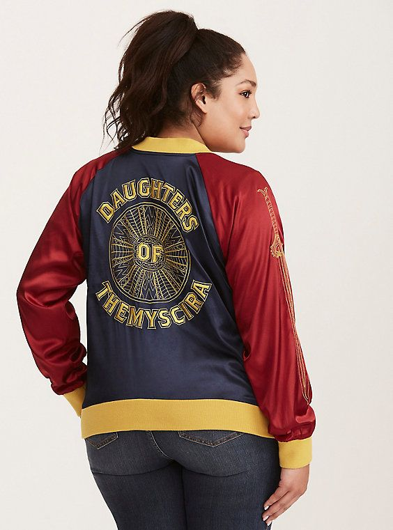 LICENSED DC COMICS WONDER WOMAN  MOTO BOMBER JACKET HOT TOPIC LIMITED EDITION