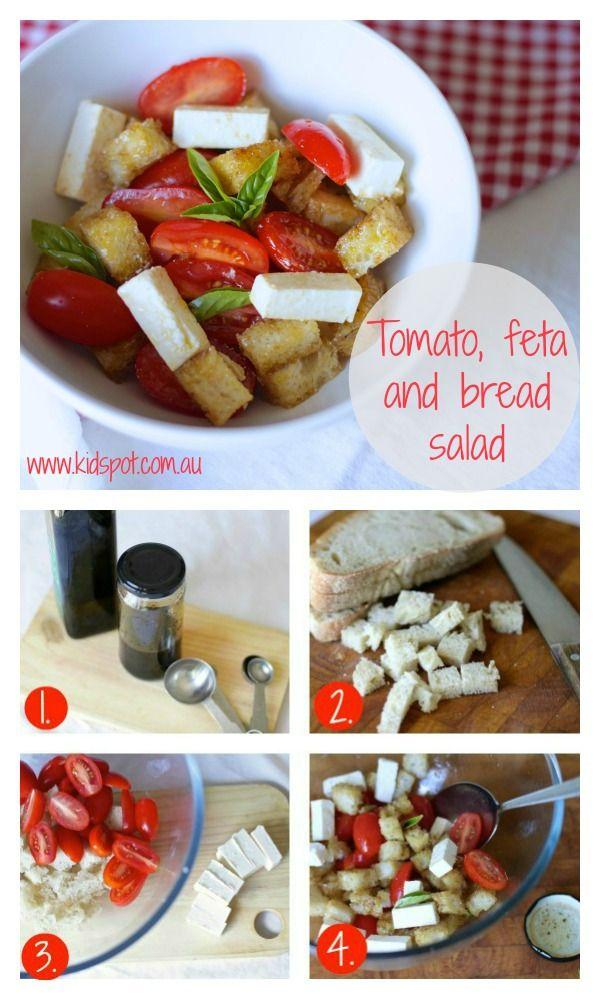 Tomato, Feta And Bread Salad Recipe - Kids food