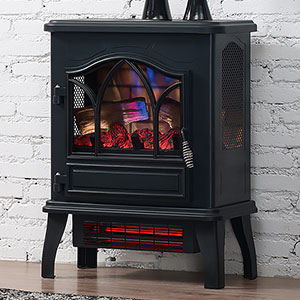 Duraflame Dfi 470 04 Black 3d Infrared Freestanding Stove Dfi 470 04 Duraflame Stove Fireplace Freestanding Stove Small Electric Fireplace Heater