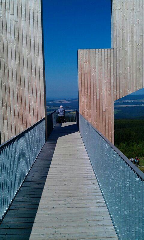 Uitzicht punt van Erbeskopf, Hunsreuck