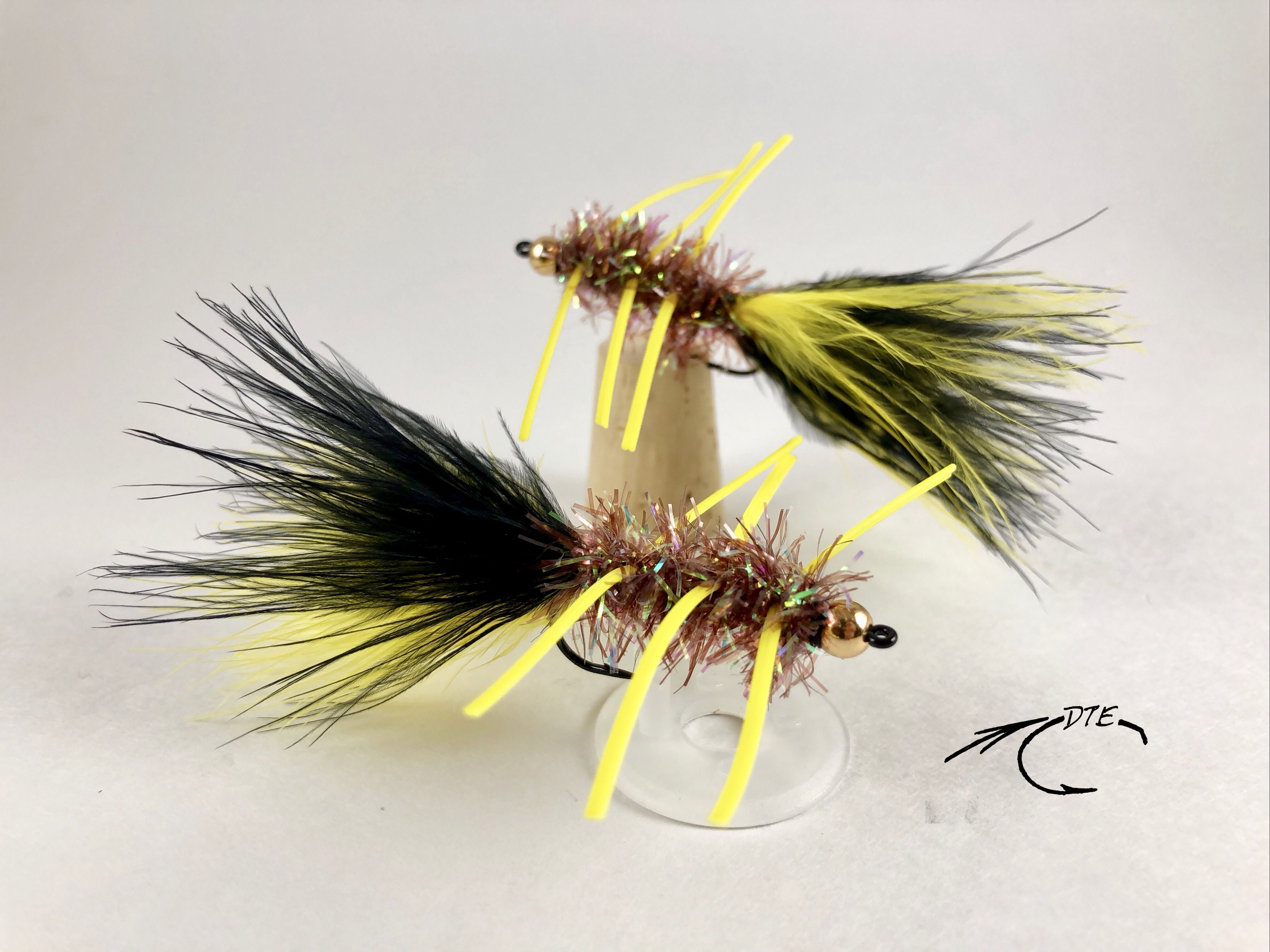 Bead Head Tequeely brown//yellow size 10