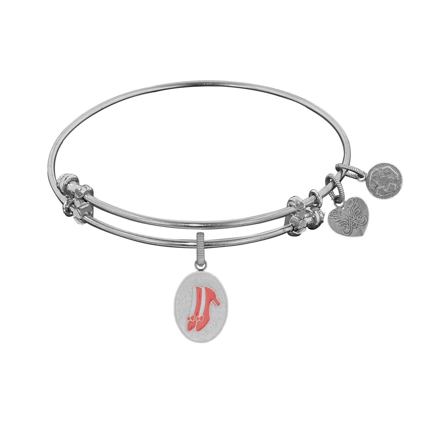 Angelica Wizard Of Oz Ruby Slippers Charm Bangle Bracelet (Wizard of Oz Ruby Slippers--White), Women's, Size: 7.5 Inch
