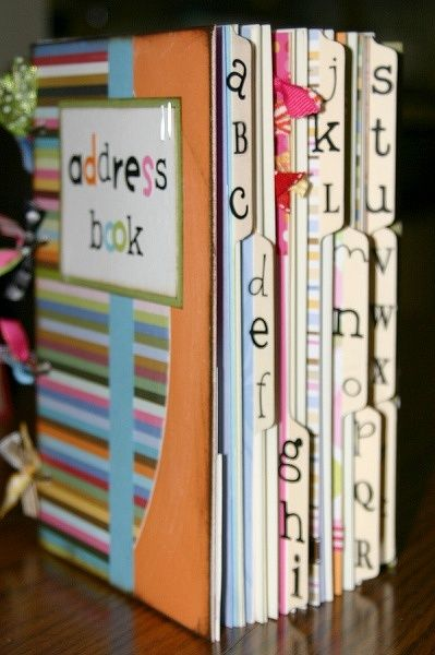 love this idea make your own address book with scrapbook supplies