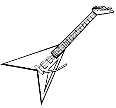 baú da web desenhos de guitarras para colorir guitar pinterest