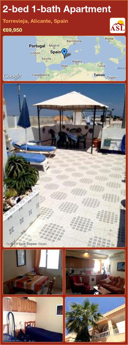2-bed 1-bath Apartment in Torrevieja, Alicante, Spain ►€69,950 #PropertyForSaleInSpain
