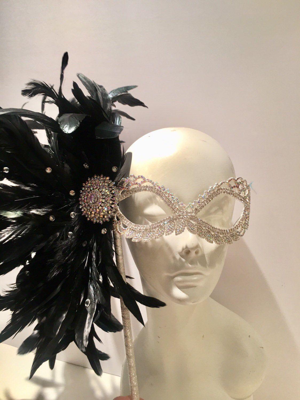 Rhinestone Mask Womens Mardi Gras Masquerade in 2020