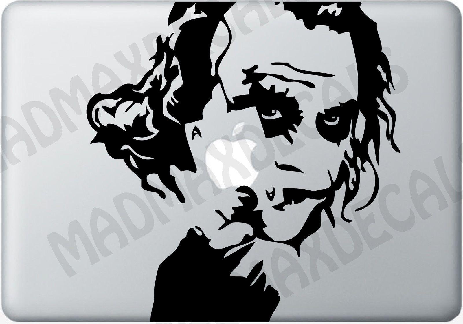 Joker Macbook Decal Vinyl Laptop Auto Sticker Heath Ledger Dark Knight Batman 8 87 Macbook Decal Joker Sketch Apple Macbook [ 1118 x 1600 Pixel ]