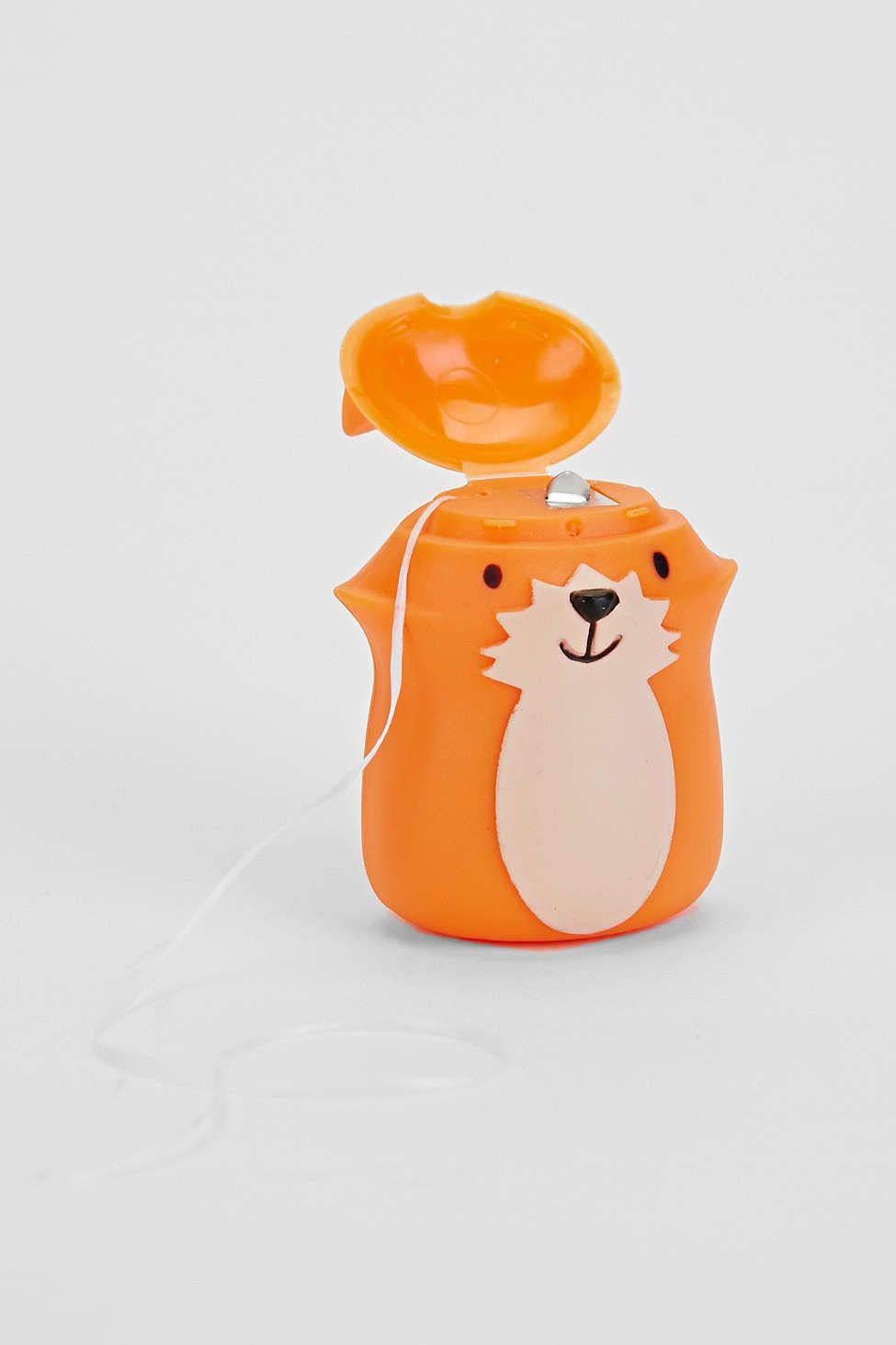 Woodland-themed dental floss. This is too cute!