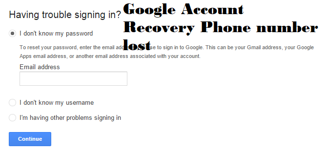 if you know or want to fix Google account recovery phone