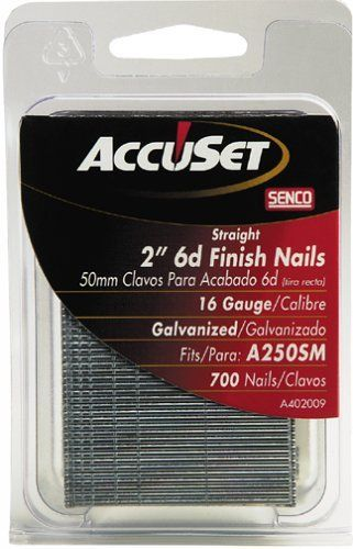Accuset A402009 2 Inch 16 Gauge Straight Finish Nail By Accuset 5 99 From The Manufacturer Finish Nails Are Used For A Va Galvanizado Empaques