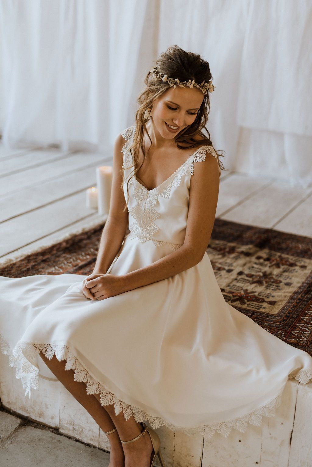 Vestidos de novia cortos – Labude Brautmode Köln  – Peinados  – Boda