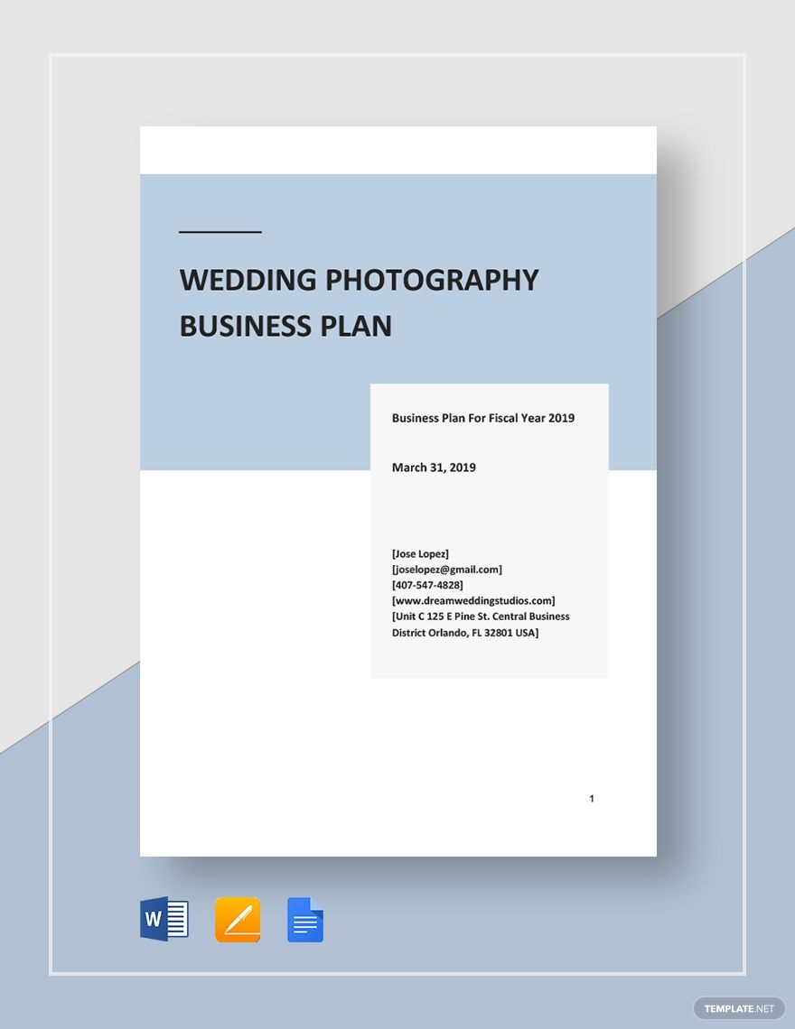 Wedding Photography Business Plan Template Ad Sponsored Photography Wedd Photography Business Plan Wedding Photography Business Business Plan Template