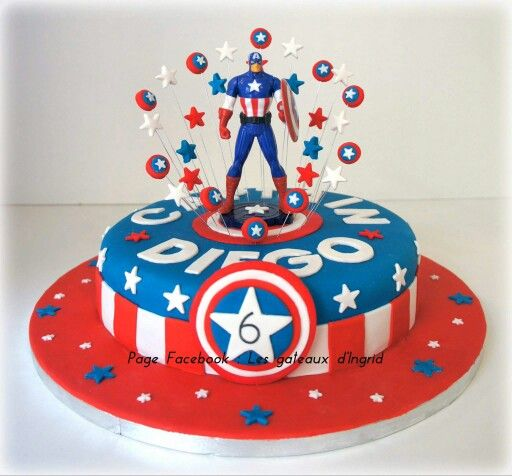 Captain America Cake The Best Cake Of 2018