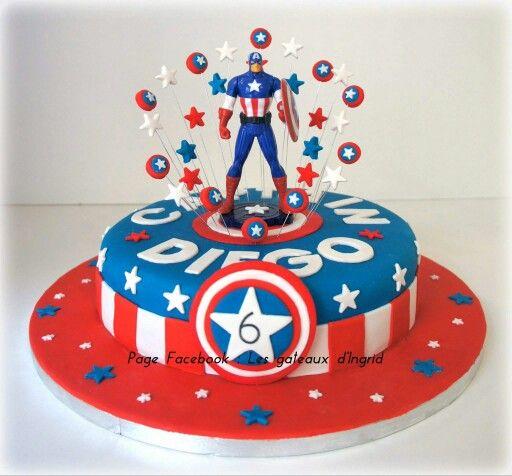 Captain america cake Pinteres