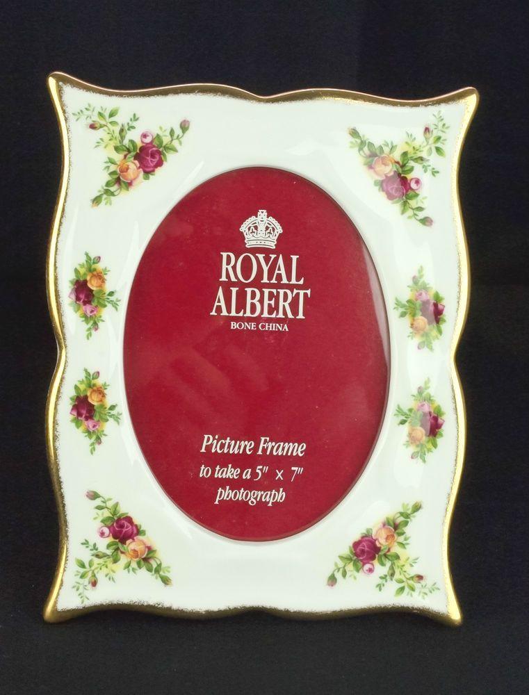 Royal Albert Old Country Roses Porcelain Photo Frame Vgc