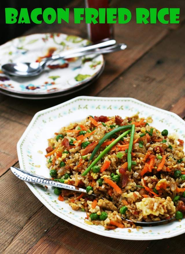 How to make fried rice bacon fries rice recipes and fried rice how to make fried rice ccuart Image collections