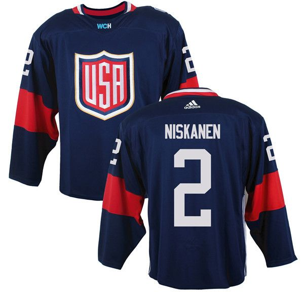 Mens Team USA #2 Matt Niskanen 2016 World Cup of Hockey Olympics Game Navy  Blue