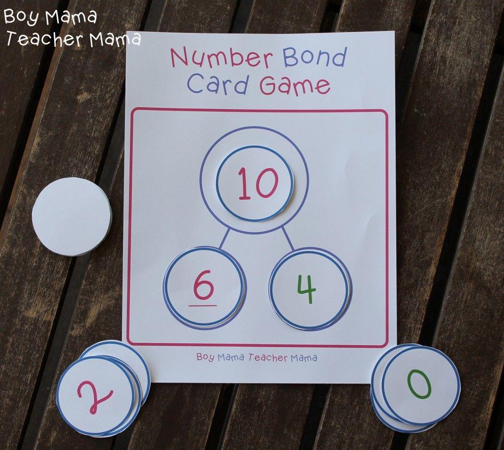 Teacher Mama Number Bond Card Game