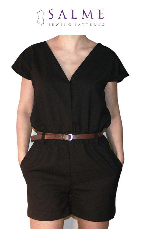 Playsuit PDF Sewing pattern | sewing | Pinterest | Diy nähen ...
