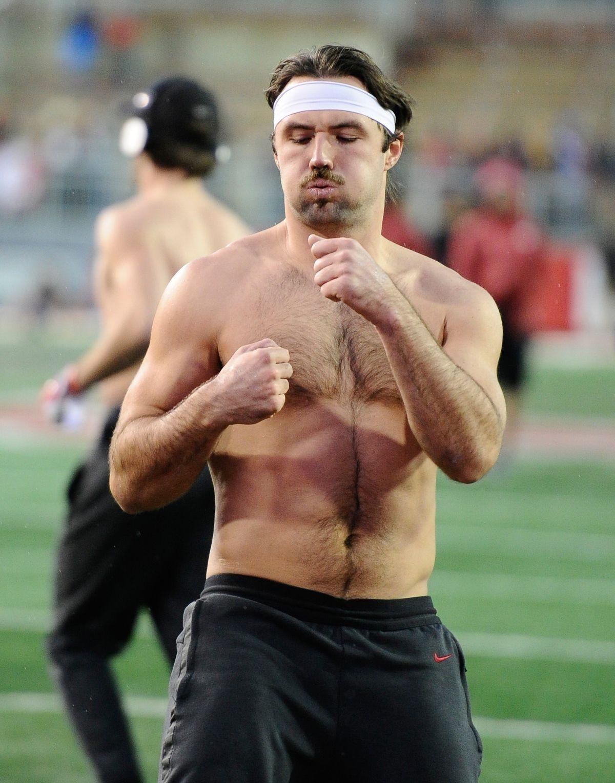 Gardner Minshew shirtless body in 2019 New mexico, Usa