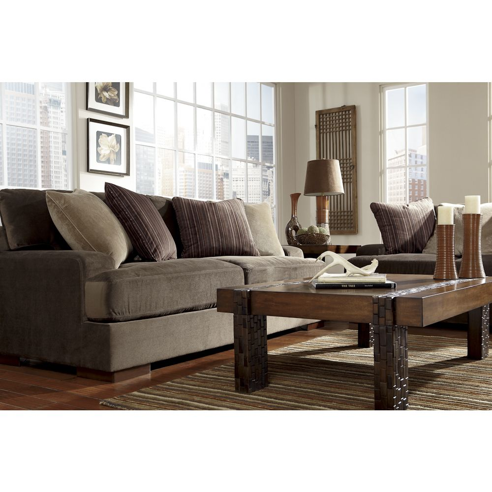 Chocolate Brown Couch Bernie And Phyls Minimalist Living Room