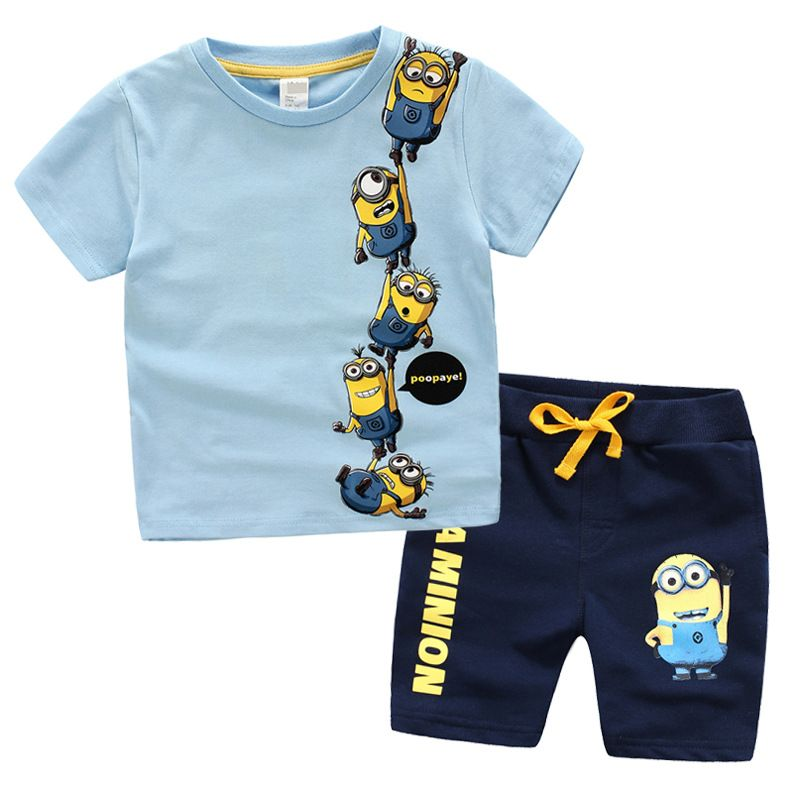 Pants Child Cotton Outfits Suits Summer Fashion Kids Boys Clothes Sets T-shirt