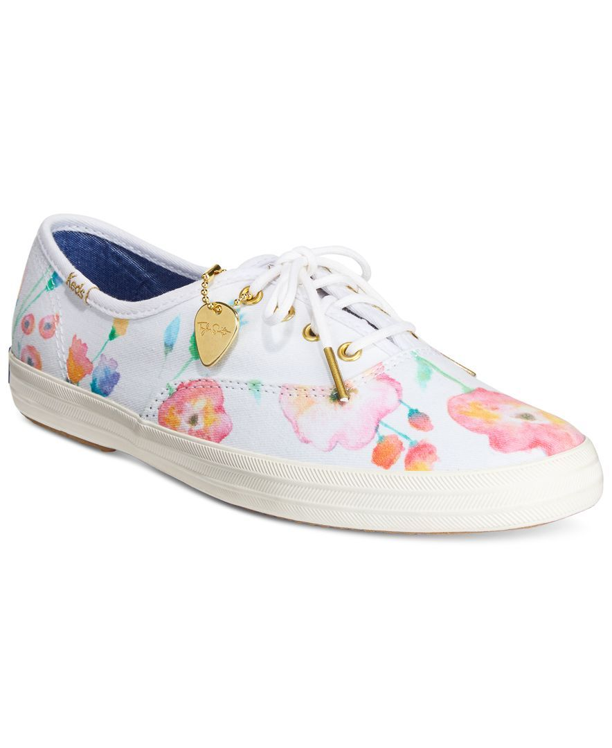 Keds Women S Limited Edition Taylor Swift Champion Flower Painting Sneakers Sneakers Shoes Macy S Keds Keds Shoes Sneakers