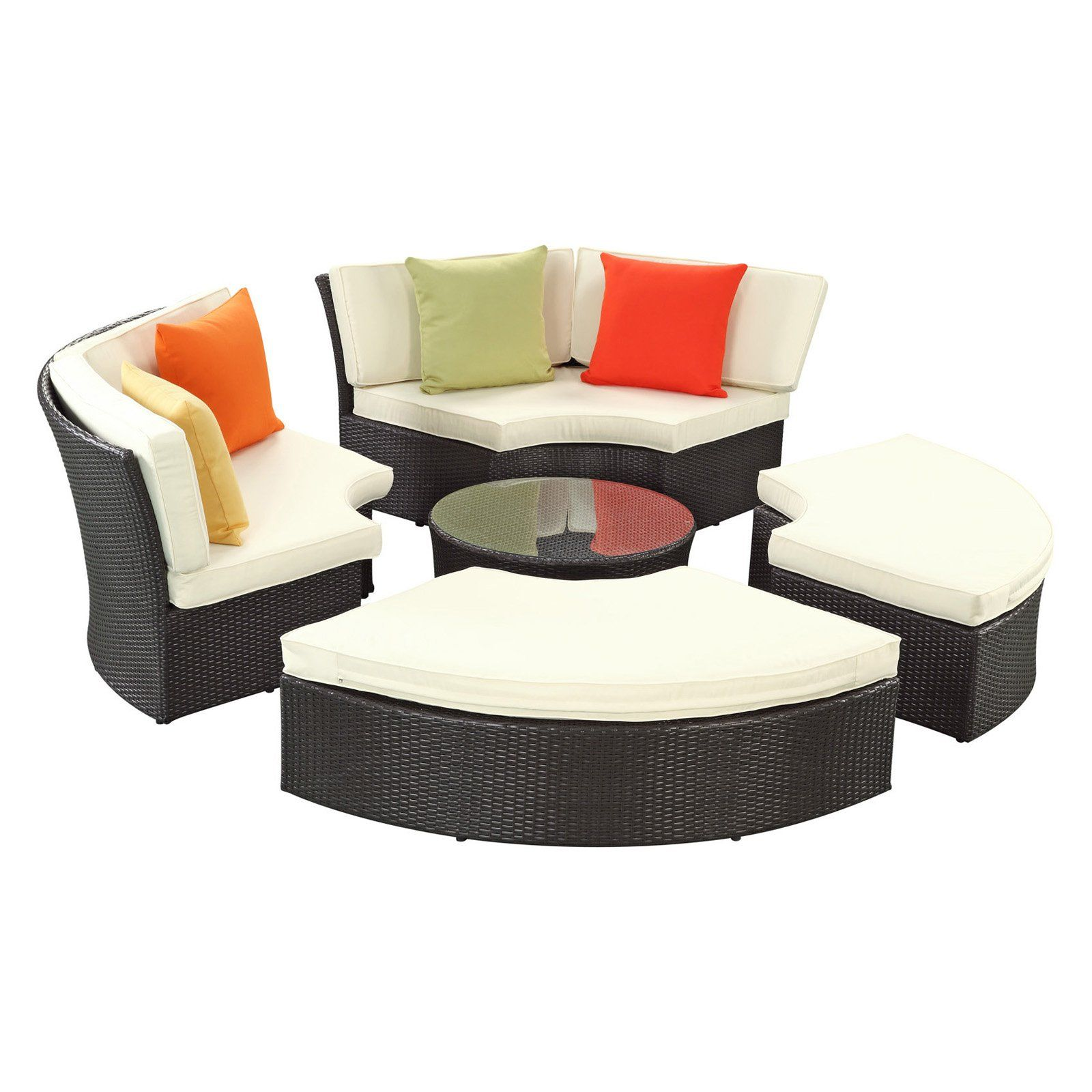 Have To Have It Pursuit All Weather Wicker Circular Daybed 1450 Daybed Sets Contemporary Outdoor Sofas Modern Outdoor Sofas