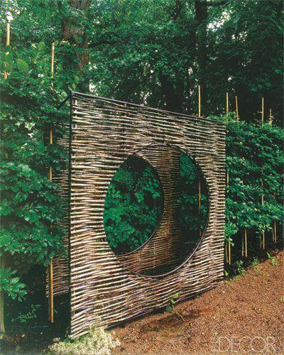 Garden Fence With Twig Portal   Fence Ideas