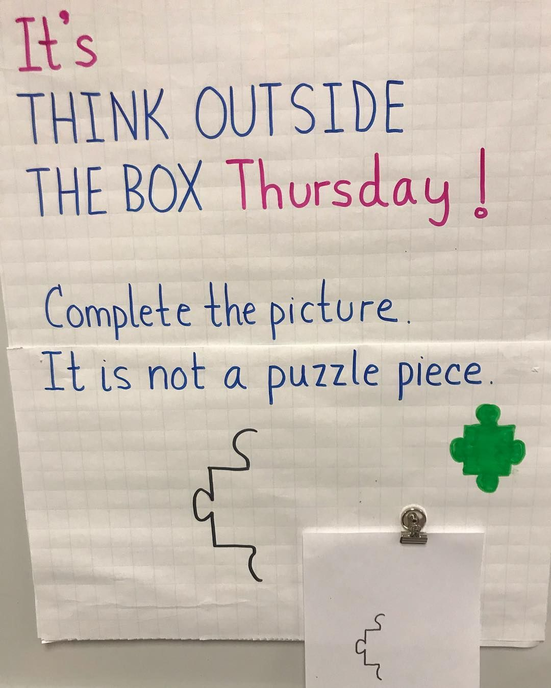 It S Think Outside The Box Thursday Complete The