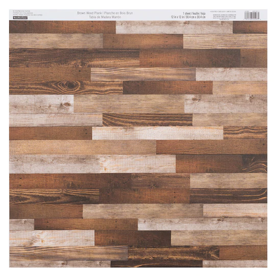 Brown Wood Plank Scrapbook Paper By Recollections 12 X 12 In 2020 Brown Wood Wood Wood Planks
