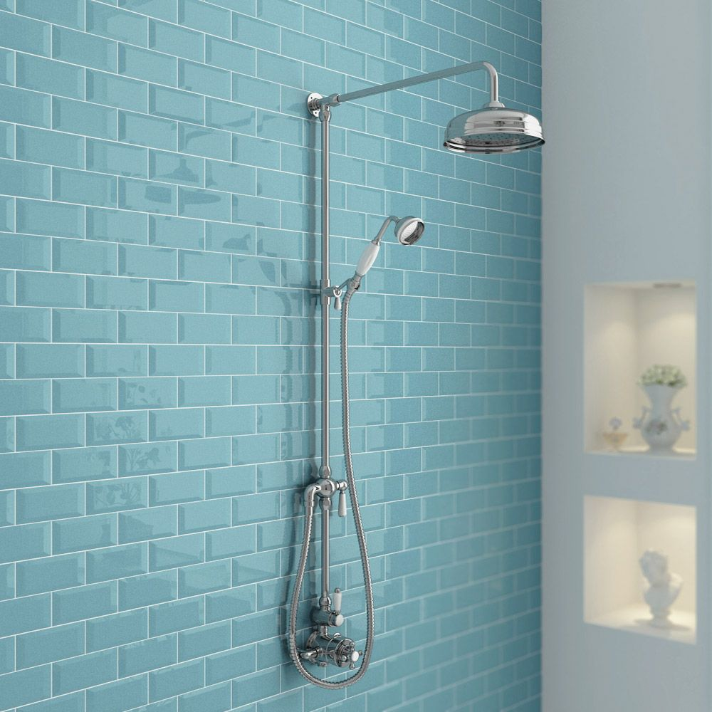 Ultra Traditional Twin Exposed Shower Package with Valve + Victorian ...