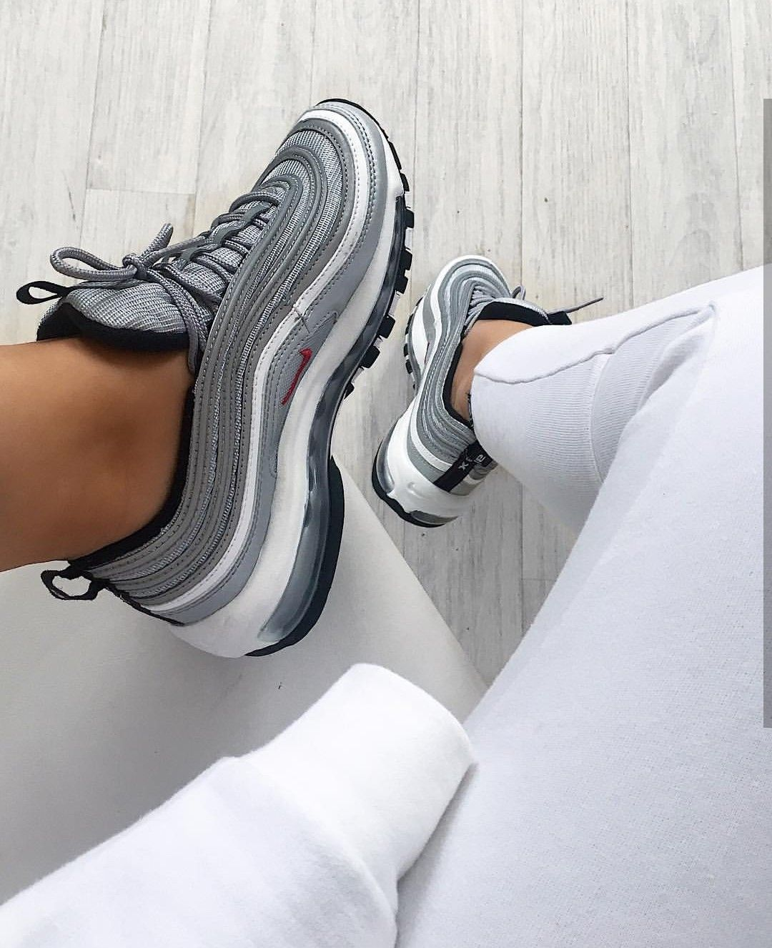 newest 77e6a 1935d Nike Air Max 97 in grau white red    Foto  nawellleee  Instagram