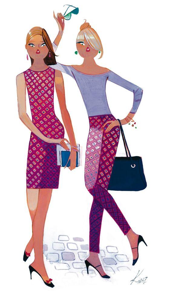 Kiraz les parisiennes femmes fashion illustration - Dessin parisienne ...