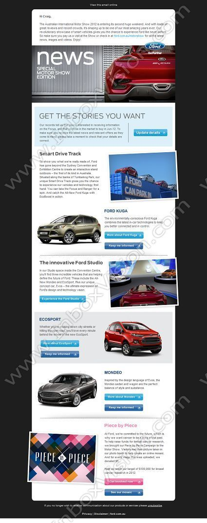 Email Newsletter Designs  Ford Edm    Newsletter