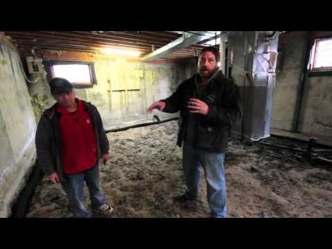 Sump pit, Weeping Tile and Flatwork - YouTube