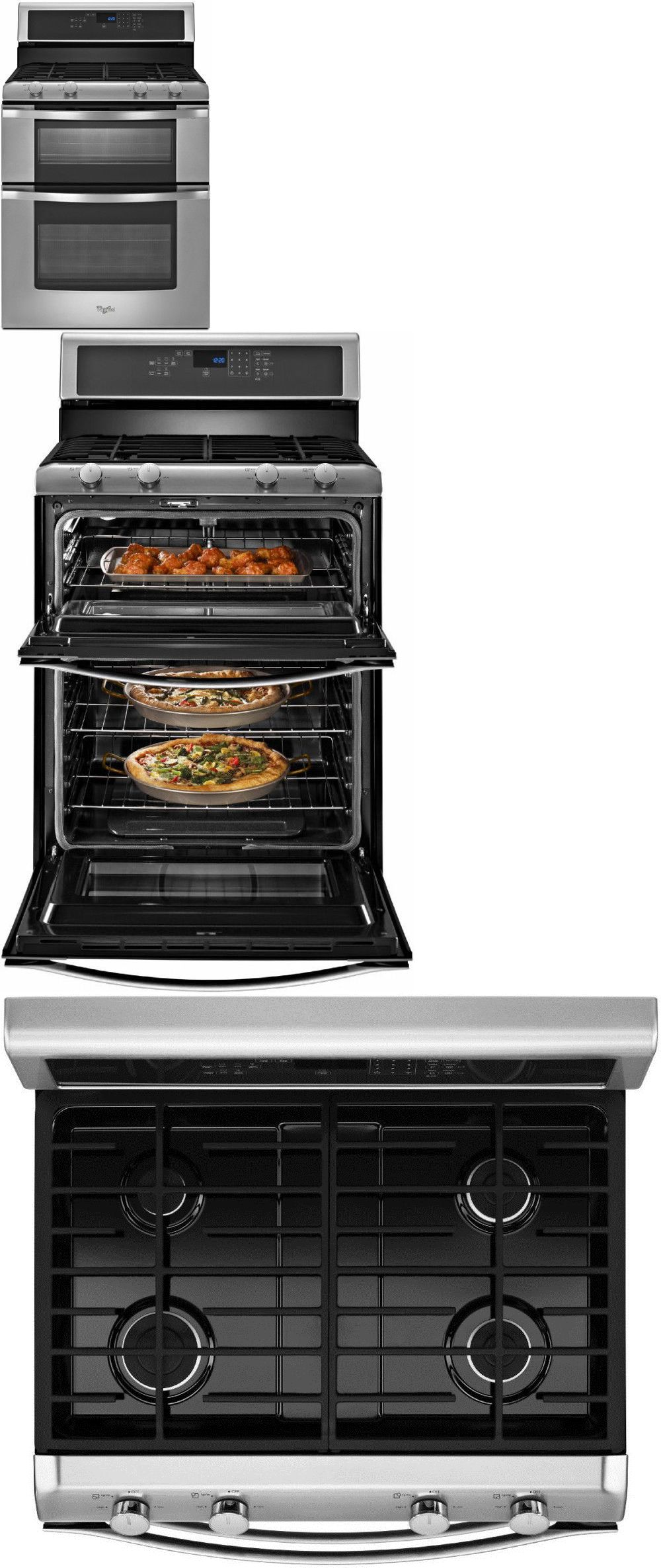 Ranges And Stoves 71250 New Whirlpool Wgg555s0bs 30 Double Oven