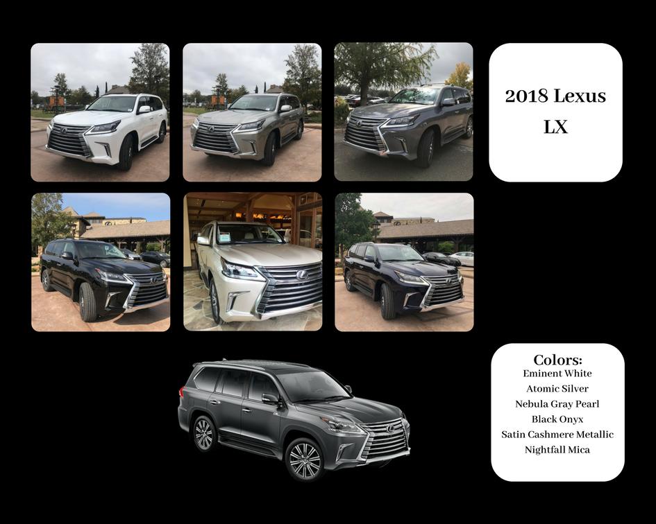 The Art Of Color 2018 Lexus Lx Color Chart Lexus Lexus Models Lexus Gx