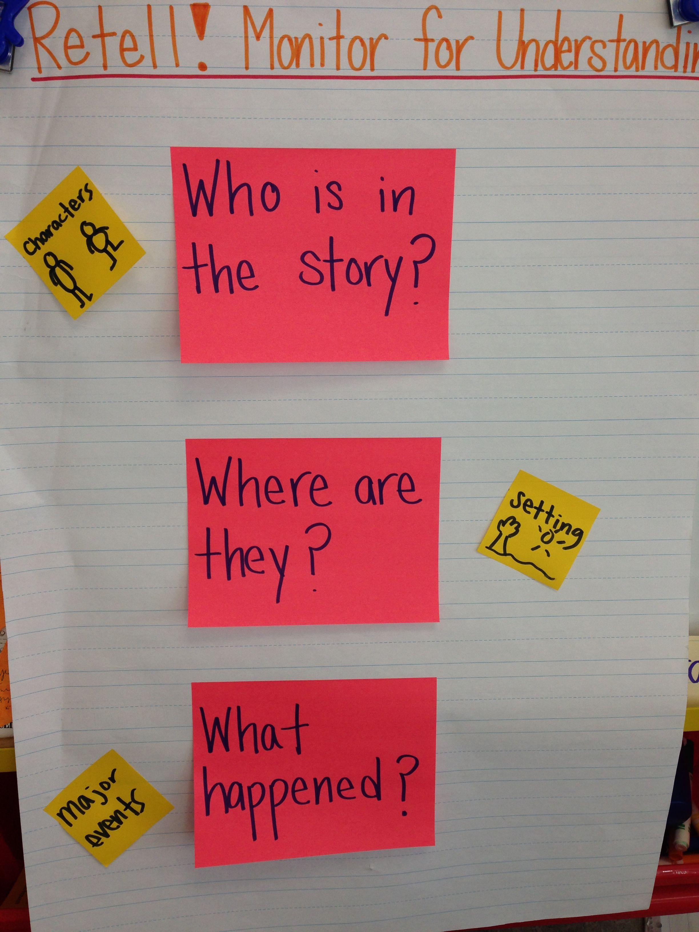 Retell Focus Characters Setting Major Events