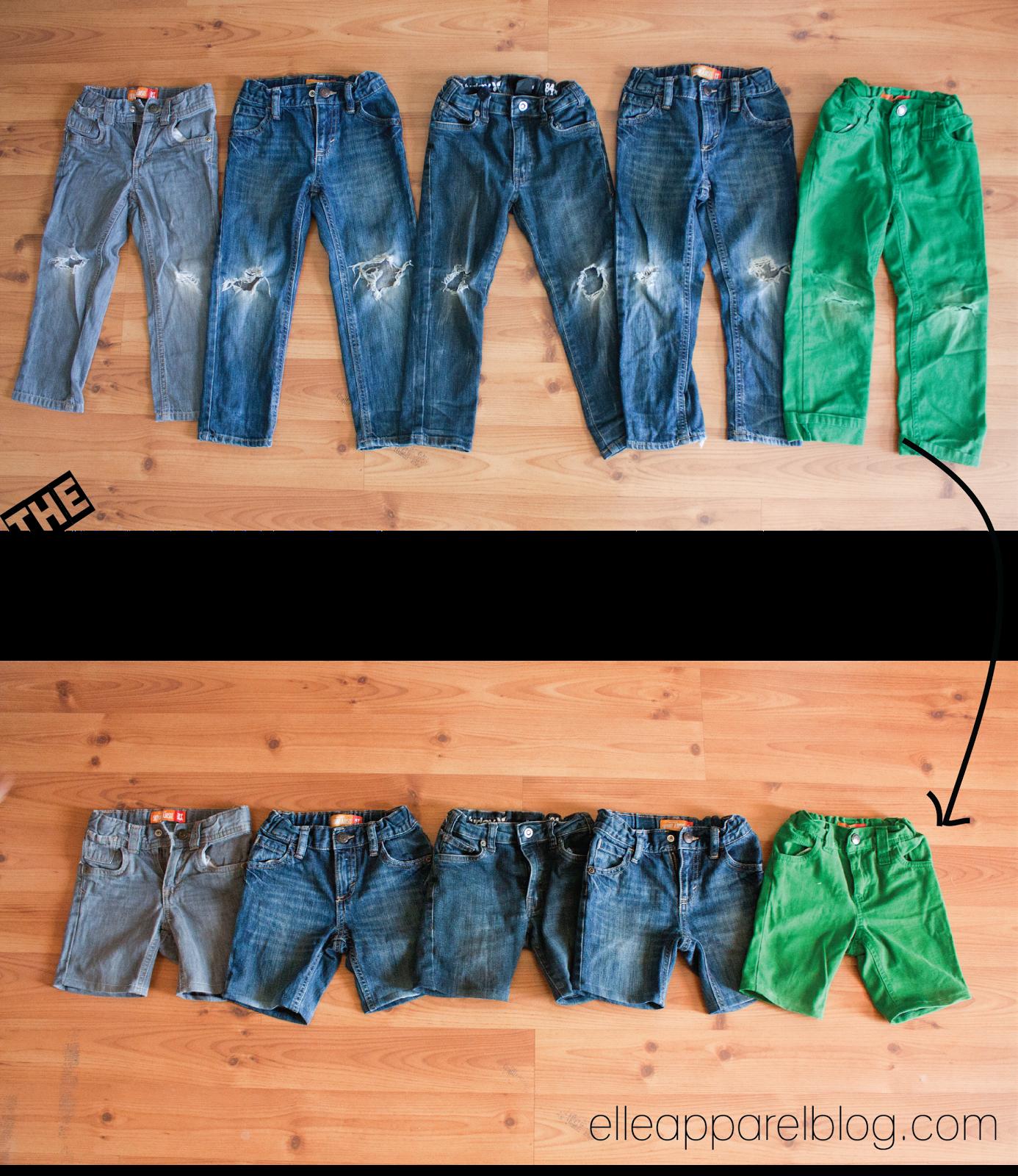 Elle Apparel Kid Shorts Refashion Tutorial Diy Denim Shorts Elle Apparel How To Make Shorts