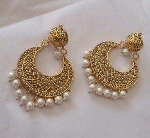 Jadau Chand Bali Online Shopping For Earrings By Suhana Art N