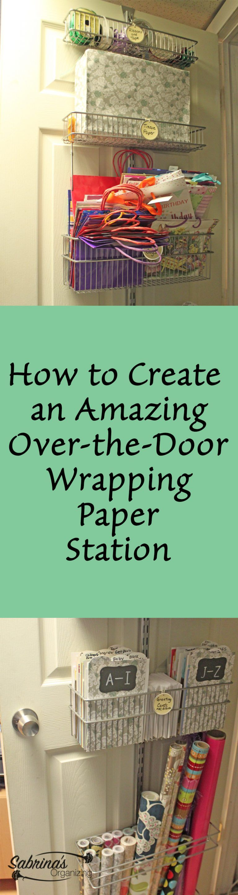 How To Create An Amazing Wrapping Paper Station   Step By Step Instructions  To Create This