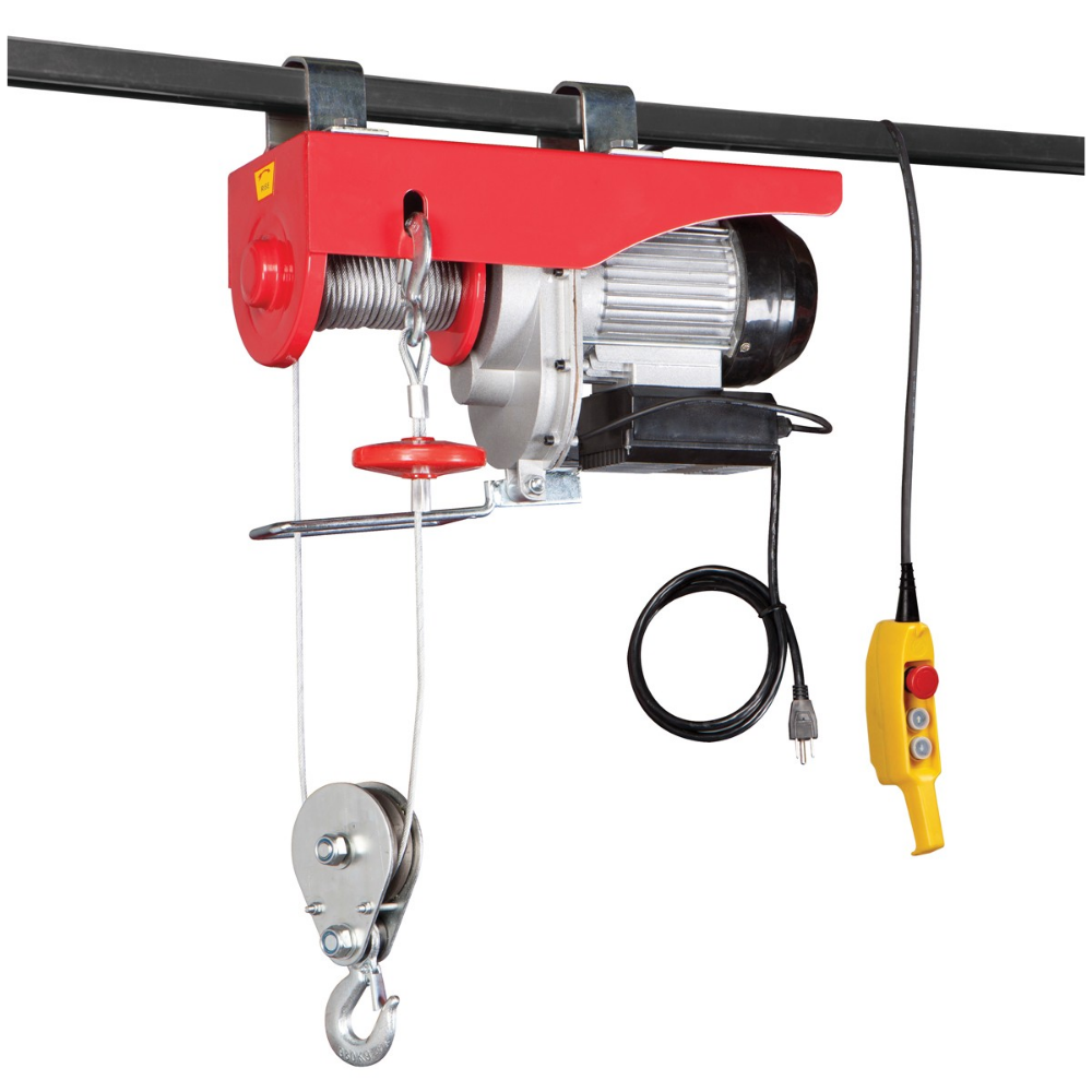 2000 lb. Electric Hoist with Remote Control Tool sheds