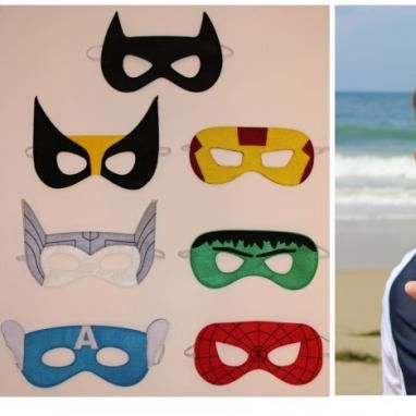 Felt Superhero Masks. 4.99.