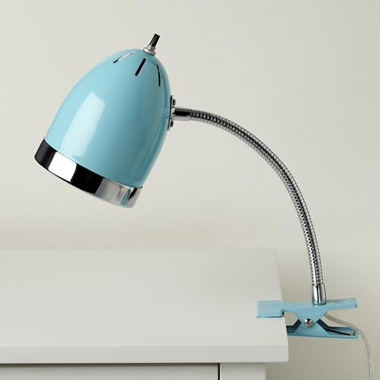 Clip It Lamp (Aqua)   This Clip Lamp Would Be So Fun For The