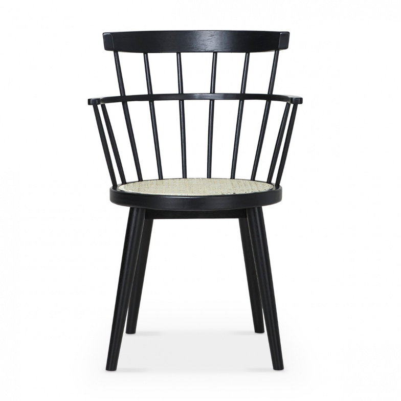 Scoop Chaise En Bois Noir Avec Siege Canne Must In 2020 Wooden Dining Chairs Chair Dining Chairs