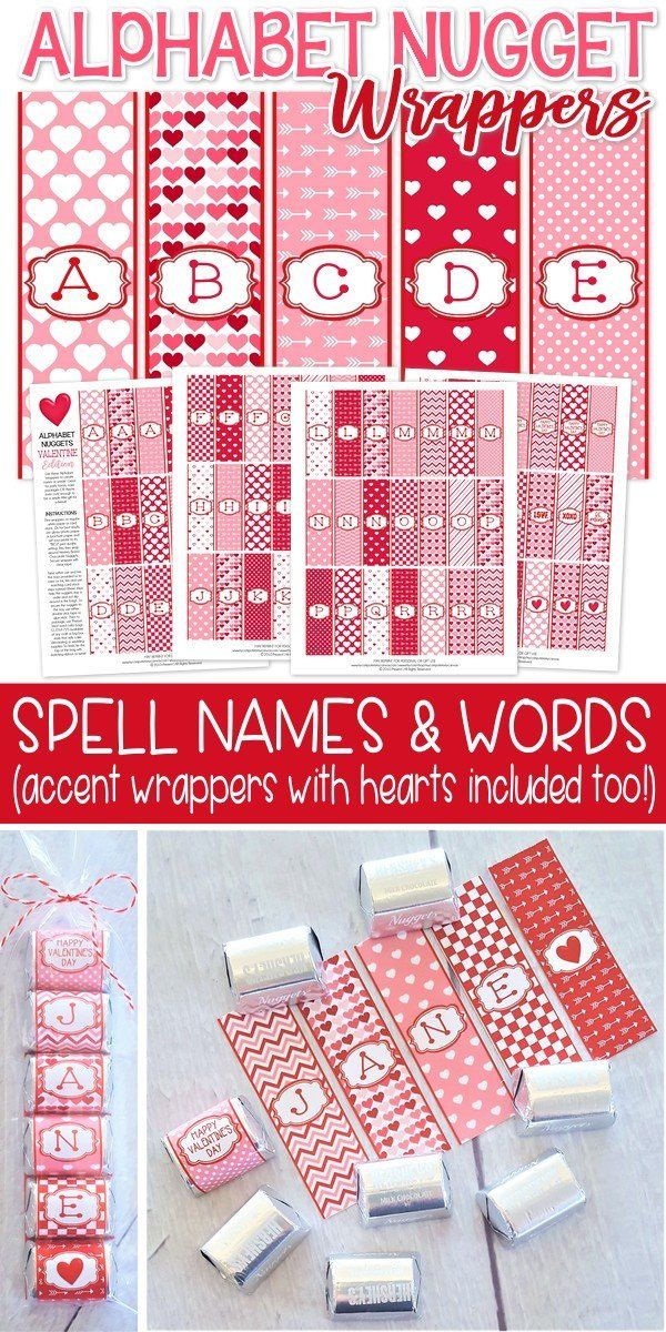 Valentine Printables, Valentine Ideas   Spell Names, Great For Class  Parties! Valentine Favor