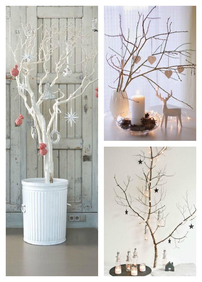 11 rboles de navidad con ramas secas rboles rboles - Decoracion con ramas de arboles ...