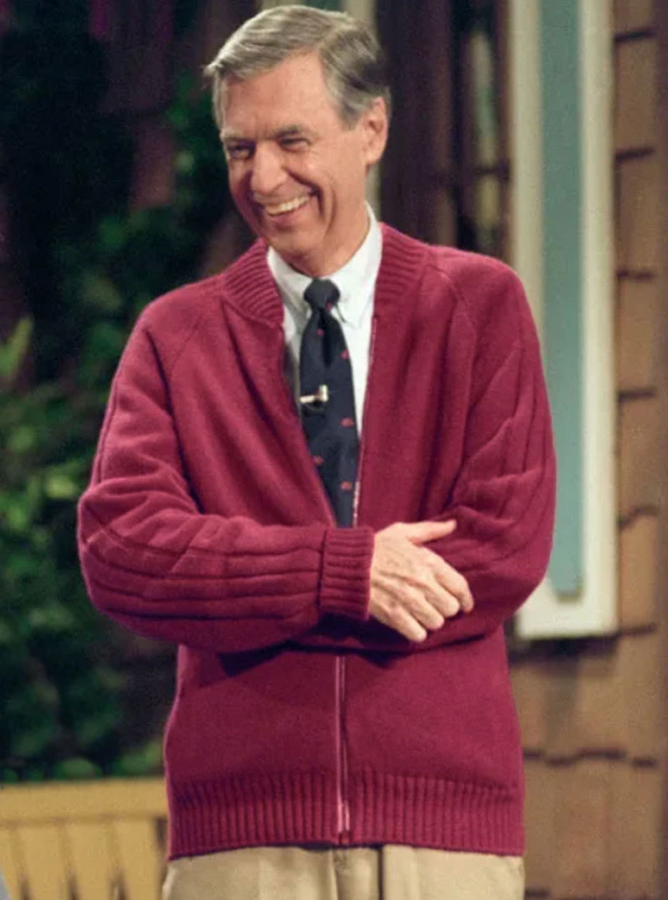 Mister Rogers Cardigan Sweater Raglan Rib Cardigan Mr Rogers Sweater Mens Cardigan Sweater
